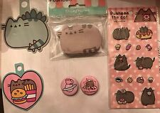 Pusheen Decorative Puffy Stickers Sticky Notes Button Pins Lot