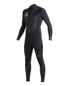 NEW-QUIKSILVER-Mens-High-Dye-3-2mm-GBS-Chest-Zip-Steamer-Wetsuit-2016-Surf