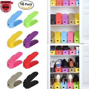 16PCS-Shoe-Slots-Space-Saver-Easy-Shoes-Organizer-Plastic-Rack-Storage-Holder