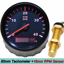 4000rpm 85mm Diesel Engine Marine Boat Tachometer Withlcd Hourmeter Rpm Sensor