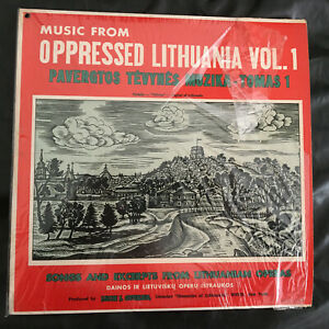 Music-From-Oppressed-Lithuania-Dainos-Pavergtos-Tevynes-LP-Vinyl-disc-Record-60-039