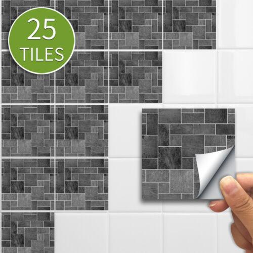Diy Materials 25pcs Self Adhesive Kitchen Stone Effect Mosaic Pvc Tile Stickers Wall Decor Uk Home Furniture Diy Anwalt Bevensen De
