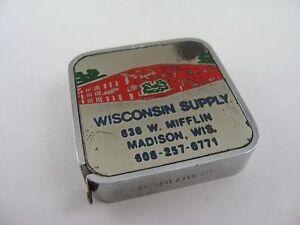 Vintage-Advertising-Tape-Measure-Wisconsin-Supply-Plumbing-Heating-Water-Works
