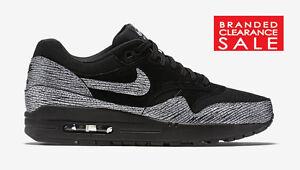 Details about BNIB New women Nike Air Max 1 Premium Black Metallic Silver Tale of Two size 5 6