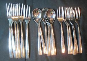 Cambridge Vintage Stainless 18 Pieces - Dinner Forks, Salad Forks, Spoons