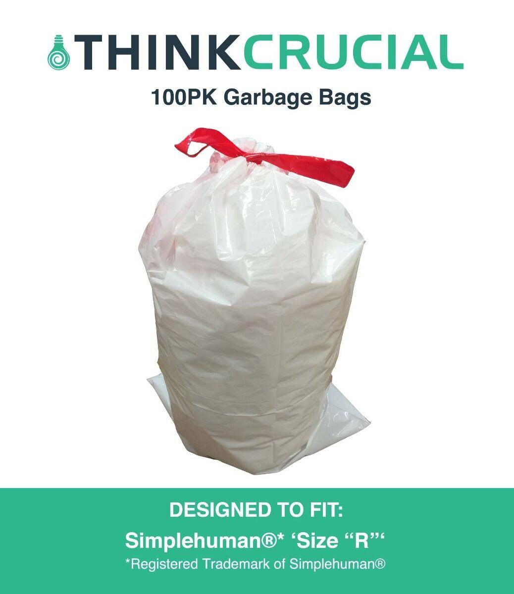 100 REPL Simplehuman® Durable Garbage Bags Größe R, 10L   2.6 Gallon