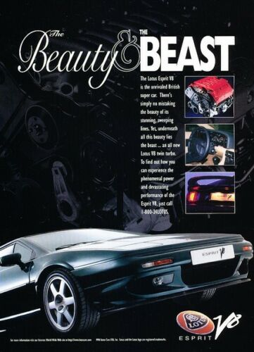 1997 Lotus Esprit V8 Original Advertisement Car Print Ad J368