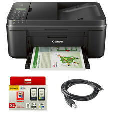 Canon PIXMA MX492 WiFi All-In-One Inkjet Printer w/ Genuine Canon Ink Bundle