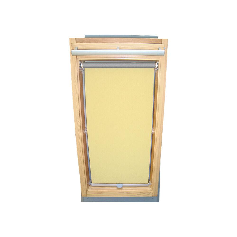 Dachfensterrollo Dachfensterrollo Dachfensterrollo Abdunkelungsrollo Thermo für Braas BA DA - hellgelb | Einzigartig  15870f