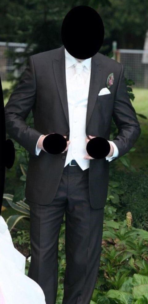 Hochzeitsanzug Masterhand Dunkelbraun mit Hemd, Weste, Plastron, Schuhen, Gürtel