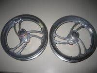 2 Jantes Aluminium 12 1/2 Pour Trottinette Electrique