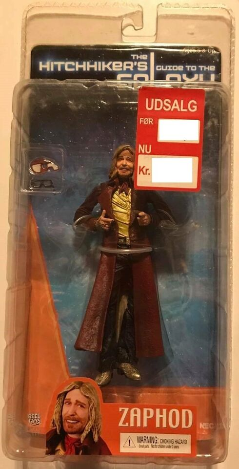 """Hitchhiker's Guide to the Galaxy Zaphod 7"""" Figur, Neca Toy"""