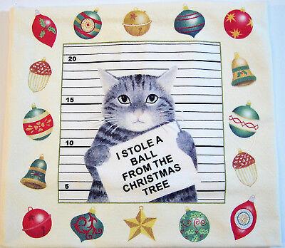 Alice/'s Cottage Cotton Flour Sack Kitchen Tea Towel Holiday Cat /& Amaryllis NEW
