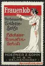 Reklamemarke - DELMENHORST, Frauenlob Seife - Hoepner & Sohn GmbH (#25987)