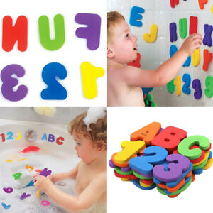 26 Letters 10 Numbers Puzzle Bath Toy Foam Floating Learn Bathroom Toys Alphabet Toy