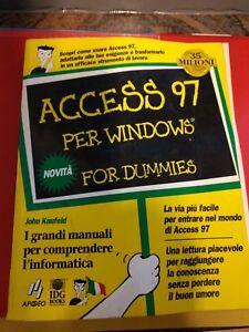 ACCESS 97 per Windows for dummies - Italia - ACCESS 97 per Windows for dummies - Italia