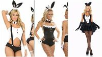 NEW WOMENS LADIES SEXY PLAYBOY BUNNY COSTUME HEN DOO FANCY DRESS PARTY OUTFIT