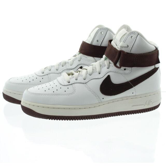 f6bbec60e33fb3 Nike Air Force 1 Hi Retro QS Chocolate White Mens Casual Shoes Af1 ...