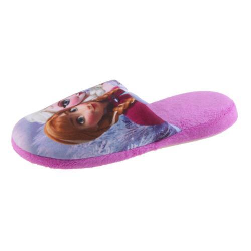 DISNEY FROZEN Die Eiskönigin Hausschuhe Pantoffel Schlappen Mädchen Lila 27-38