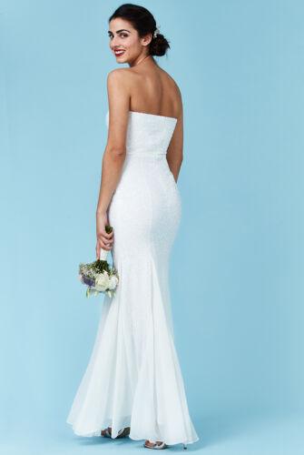 Robe de mariée robe de mariée Mermaid Sirène Paillettes Ivoire Blanc 36-42