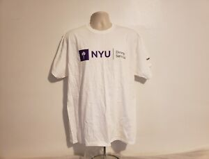Details about New York University NYU Dining Services Adult White XL T-Shirt