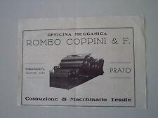 advertising Pubblicità 1947 OFFICINA MECCANICA ROMEO COPPINI - PRATO