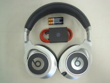 Genuine Silver Beats by Dr Dre Executive Headphones + Cable + 2 AAA *Excellent