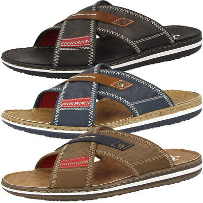 Rieker Sandalen Badelatschen Antistress Schuhe Herren Pantoletten 21053 | eBay