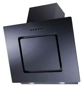 respekta dunstabzugshaube schr ghaube kopffrei glas schwarz led 60 cm design ebay. Black Bedroom Furniture Sets. Home Design Ideas