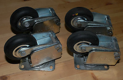 Set of 4 Darnell Cushion Ride Casters CR-II-3