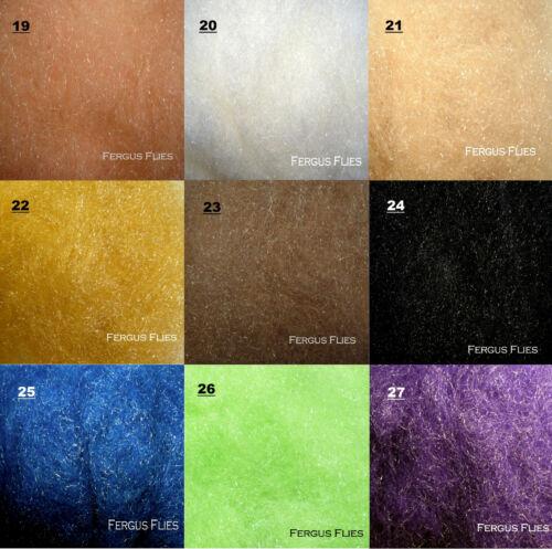 Worldwide! 40 Bags Antron Sparkle Dubbing plus 3 Dubbing Boxes