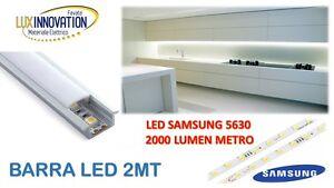 Dettagli su Barra Led Sottopensile Cucina, armadio in Alluminio 2 METRI  SAMSUNG Luce Fredda