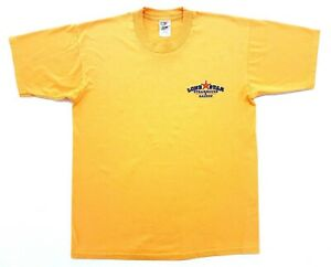 Vintage Texas Lone Star Steakhouse Tee Yellow Size L Mens T-Shirt