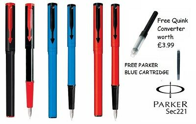 Black Blue Red Navy Burgundy PARKER BETA STANDARD FOUNTAIN CALLIGRAPHY