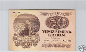 ESTONIE-50-KROONI-1929-PICK-65-a