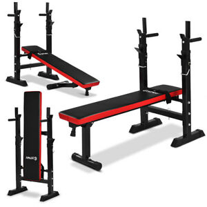 Adjustable Folding Sit Up Weight Bench Barbell Dip Station