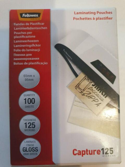 glänzend kopfverleimt 100 Laminierfolien  DIN A5 125 Mic 1A Marke 100er Packg