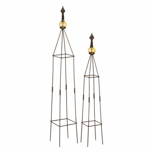 Obelisken Set Rosenturm Rosensäule Metall Rankgitter Rosen Säule 2 Stück