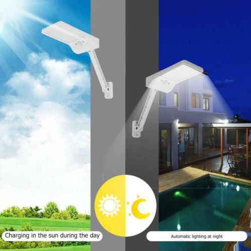 50LED Solar Wall Lamp PIR Motion Sensor Street Garden Light w//Remote Control