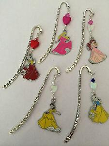 Disney Princess Enamel Bookmark Snow White Belle Ariel Cinderella Cute Gift