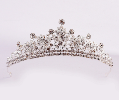Gold/silver Crystal Large Wedding Bridal Party Pageant Prom Tiara Crown