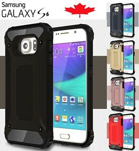 For-Samsung-Galaxy-S6-Dual-Layer-Shockproof-Hybrid-Armour-Tough-Case-Cover