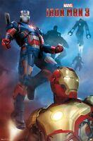 Iron Man 3 Movie Poster Got Your Back 22x34 Patriot Robert Downey War Machine