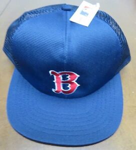 e4a42913504 Vintage   MLB Boston Red Sox Trucker Mesh Snapback Hat By Annco NWT ...