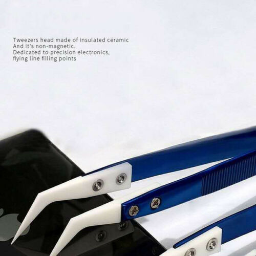 Mechanic Precision Insulation Ceramic Tweezers Special For Phone Fying Line tool