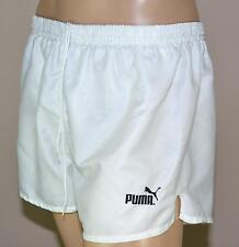 Puma Glanz Nylon Shorts!!!  Vintage Short Sporthose Weiß-Gr.:L-6          (987)