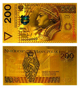 "★★ POLOGNE / POLAND : BILLET POLYMER  "" OR "" DU 200 ZLOTYCH ★ P060"