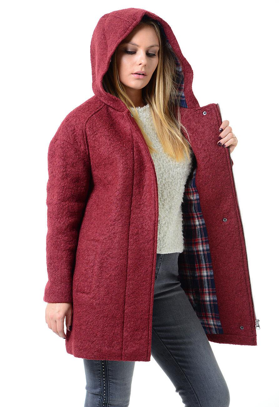 Ladies Ex Marks & Spencer Wool Blend Bouclé Duffle Coat R.R.P.  M&S
