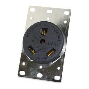 30 Amp Outlet >> Details About Leisurecords Tt 30r 3 Prong 30 Amp Rv Standard Flush Mount Receptacle Outlet