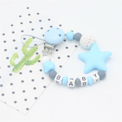 NEW DIY Colorful Pacifier Chain for Baby Teething Soother Chew Toy Dummy Clips